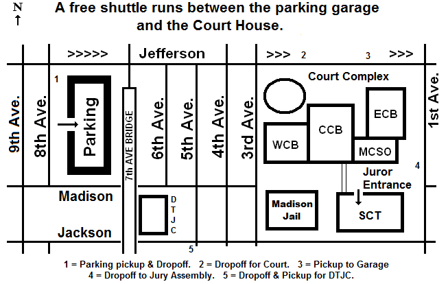 Map of Downtown Phoenix Jury parking - 701 W Jefferson St., Phoenix, AZ